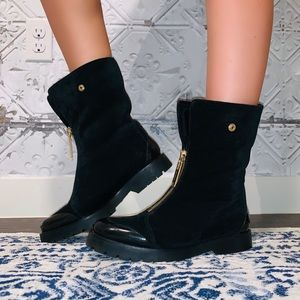 BURBERRY QUINSLEY SUEDE BOOTS